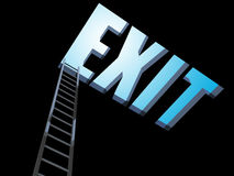 Exit from the darkness Royalty Free Stock Photography