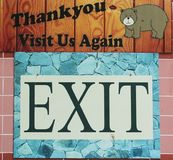 Exit display board. Beautiful exit display board erructed at an exit gate of zoological park in India royalty free stock image