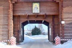 Nikolsky Gates in the Dmitrov Kremlin, Russia, Moscow Region royalty free stock photo