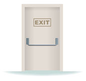 Exit Door Stock Image