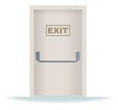 Exit Door. Gray exit door, for people who want to escape vector illustration