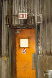Exit door Royalty Free Stock Images