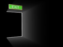 Exit door Royalty Free Stock Image