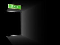 Exit door Royalty Free Stock Image
