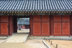 Exit door of Changgyeong palace Royalty Free Stock Photography