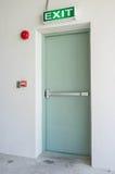 Exit Door. Emergency exit door of residential building Stock Photo
