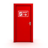 Exit door. Isolated on white Royalty Free Stock Photos
