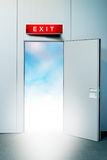 Exit door to heaven Royalty Free Stock Images