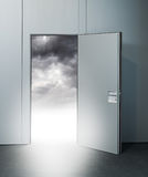 Exit door to heaven Royalty Free Stock Image