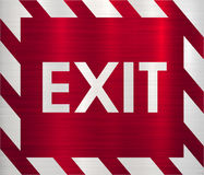 Exit emergency fire sign Royalty Free Stock Image