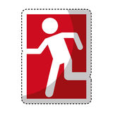 Exit emergency route sign Stock Photos