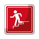 Exit emergency route sign. Illustration design Stock Photo
