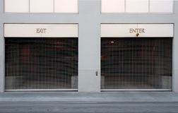 Exit and Enter Car Ports Stock Photography