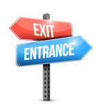 Exit and entrance road sign illustration design Royalty Free Stock Images
