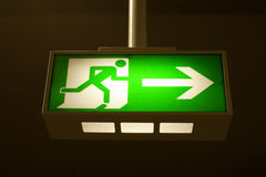 Exit / escape sign Stock Photography