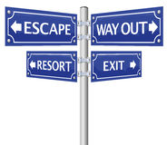 Exit Escape Way Out Street Sign Royalty Free Stock Photography
