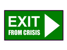Free Exit From Crisis Stock Photo - 9427720