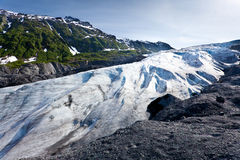 Exit glacier Royalty Free Stock Images
