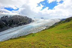 Exit Glacier, Harding Ice Field, Kenai Fjords National Park, Alaska. USA royalty free stock image