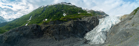 Exit Glacier in Seward, Alaska. Stock Photo