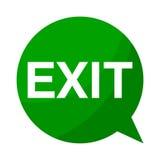 Exit, Green Speech Bubble. Green Speech Bubble exit, vector icon Royalty Free Stock Photo