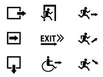 Exit icon Royalty Free Stock Image