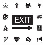 EXIT icon. Detailed set of fire guard icons. Premium quality graphic design sign. One of the collection icons for websites, web de. Sign, mobile app on white Royalty Free Stock Images