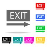 EXIT icon. Element firefighters multi colored icons for mobile concept and web apps. Icon for website design and development, app. Development. Premium icon on Stock Photo