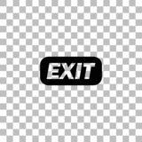 Exit icon flat. Exit. Black flat icon on a transparent background. Pictogram for your project stock illustration