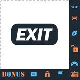 Exit icon flat. Exit. Perfect icon with bonus simple icons royalty free illustration