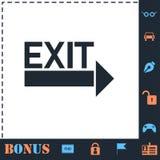 Exit icon flat stock illustration