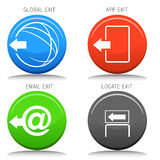 Exit Icon Set Royalty Free Stock Photo