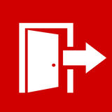 Exit icon Royalty Free Stock Photo