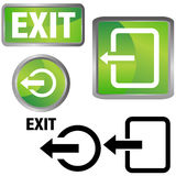 Exit Icons Royalty Free Stock Photography