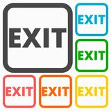 Exit icons set Stock Photos