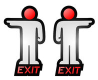 Exit indication. Design of creative exit indication Royalty Free Stock Photo