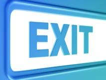 Exit internet blue icon Royalty Free Stock Photo