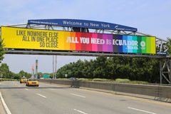 The exit from John F. Kennedy International Airport in New York. NEW YORK - JULY 8: The exit from John F. Kennedy International Airport in New York on July 8 Stock Photos