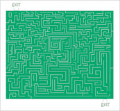 Exit from the labyrinth Royalty Free Stock Image