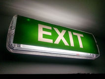 Exit light Royalty Free Stock Images