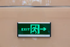 Exit light Royalty Free Stock Photography