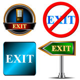 Exit logo set Royalty Free Stock Photos