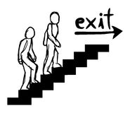 Exit message. Creative design of exit message Royalty Free Stock Photography