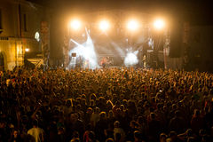 EXIT MUSIC FESTIVAL - Crowd in front of the Fusion stage Royalty Free Stock Photo