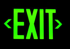Exit neon sign Stock Photo