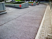 Exit from a parking. Image of the exit from a parking Royalty Free Stock Photo