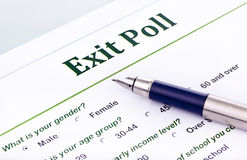 Exit poll Royalty Free Stock Images