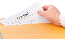 Exit poll Stock Photography