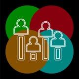 Exit poll concept icon. element illustration. vector illustration