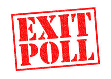 EXIT POLL. Red Rubber Stamp over a white background Royalty Free Stock Image